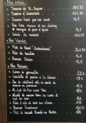 Menu Côté Mer - Un exemple de menu du jour