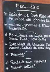 Menu La Bascule - Le menu à 23€