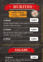 Menu k&b house - les buritos, salades,...