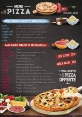 Menu Le 101 Avenue - les pizzas