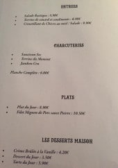 Menu Le ktc - Les entrées, charcuteries, plats et desserts