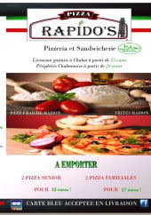 Menu Rapido's Pizza - Carte et menu Rapido's Pizza Chalon sur Saone