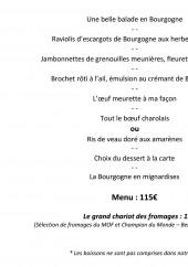 Menu Frédéric Doucet - Menu charolais