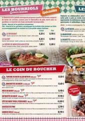 Menu La mangoune - Les bourriols, tartas, frites,...