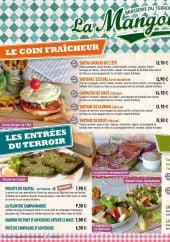 Menu La mangoune - Les entrées, les salades, la tartine l'estival,...