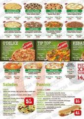 Menu O'delice - Pizzas, salades, paninis,...