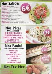 Menu Dolce pizz - Salades, pâtes, paninis,...
