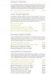 Menu Le Restaurant - Les vins page 2