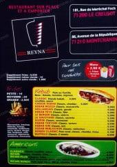 Menu Reyna - Les sandwiches, frites,....
