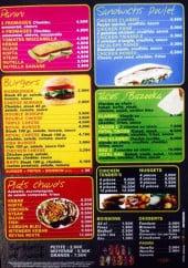 Menu Reyna - Les paninis, burgers,....
