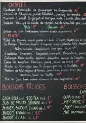 Menu Le Bis - Exemple de menu