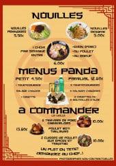 Menu Min'Chine - Nouilles, menu panda et à commander