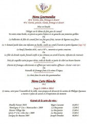 Menu Aux Années Vins - Les autres menus et extraits de la carte des vins