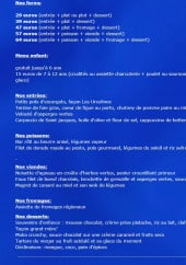 Menu Les Ursulines - Formules, entrées, poissons,....