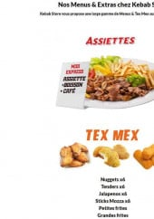 Menu Kebab Store - Assiettes et tex mex