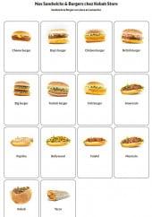 Menu Kebab Store - Sandwiches et burgers