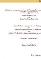 Menu La Cassolette - Le menu maconnais