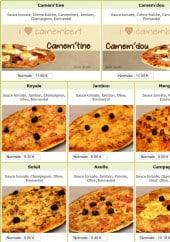 Menu La royale - La pizza royale, jambon, merguez,...