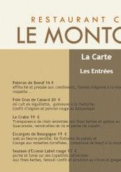 Menu Le Montcenis - Les entrées