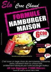 Menu Elo'Croc Chaud - Formule hamburgers
