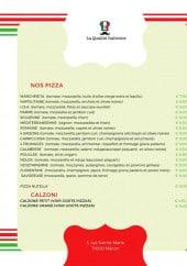 Menu La Qualité Italienne - LEs pizzas et calzoni