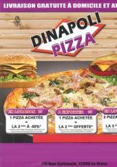 Menu Dinapoli Pizza - Carte et menu Dinapoli Pizza Le Mans