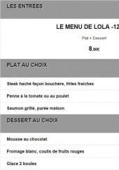 Menu Le 79 - Le menu de Lola à 8,9€