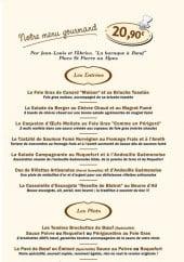 Menu Le Bistrot De La Vieille Porte - Le menu gourmand