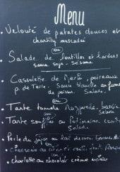 Menu Le chant des cocottes - Un exemple de menu du jour