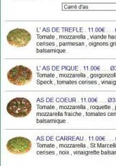 Menu L'As de Pizz - Carré d'As