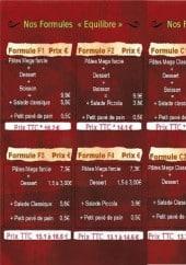 Menu Ello Café - Les formules