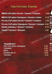 Menu Ello Café - Les formules express et pates