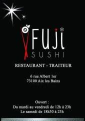 Menu Fuji Sushi - Carte et menu Fuji Sushi Aix les Bains
