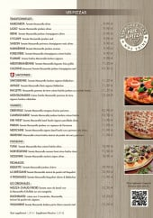 Menu L'Arbre à Palabres - Les pizzas