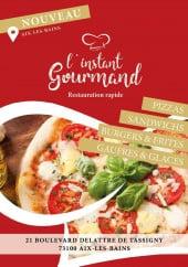 Menu L'Instant Gourmand - Carte et menu L'Instant Gourmand  Aix les Bains