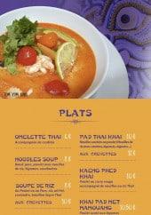 Menu Thai food Station - Plats