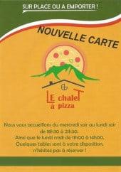Menu Le Chalet à pizza - Carte et menu Le Chalet à pizza Le Chatelard