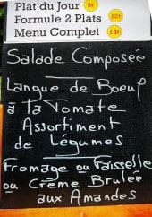 Menu La Fine Fourchette - Un exemple de menu du jour