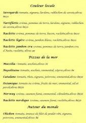 Menu Marie Sol Pizza - Les pizzas: Les couleurs locales, pizzas de la mer et autours du monde