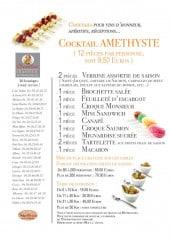 Menu Chevallier - Les cocktails amethyste