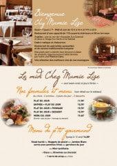Menu Chez Mamie Lise - Les menus