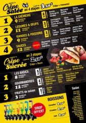 Menu Food Crêpe - Crêpes salées, sucrées et boissons