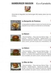 Menu L'Heure Tourne - Les hamburgers