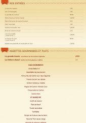 Menu Le cochon à l'Oreille - Les entrées, assiettes gourmandes et plats