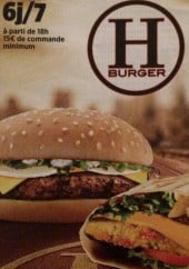 Menu H'burger - Carte et menu H'burger Annemasse