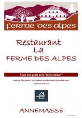 Menu La Ferme des Alpes - Carte et menu La Ferme des Alpes Annemasse