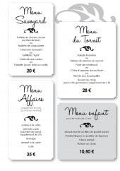 Menu Chalet du tornet - Les menus