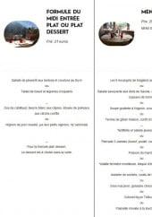 Menu La télécabine - La formule du midi et le menu à 21€