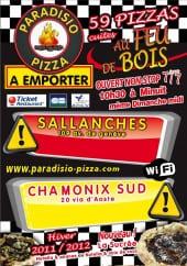 carte et menu paradisio pizza Chamonix Mont Blanc