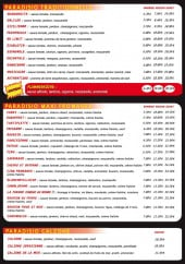 Menu Paradisio Pizza - pizza traditionnelle et fromage